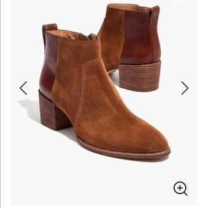 Madewell Brown Asher Boot Bootie Suede and Leather